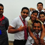 The Kingfisher staff at Amritsar Airport...for joking around with me while I checked into my flight for Jaipur. Good luck getting into UCLA! 7/16/10