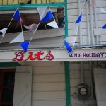 Dits Restaurant in Belize City...for being a homey and pleasant group of people who not only cooked us delicious chicken stew, but also let us have free coffee and a discounted breakfast when you refused to take $20 USD bills for the sake of our convenience. 11/28/11.