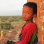 Our 7 year-old guide at Bagan...for making sure we didn't fall while climbing up those brick temples and guiding us to a beautiful view of the sunset. 07/29/11.